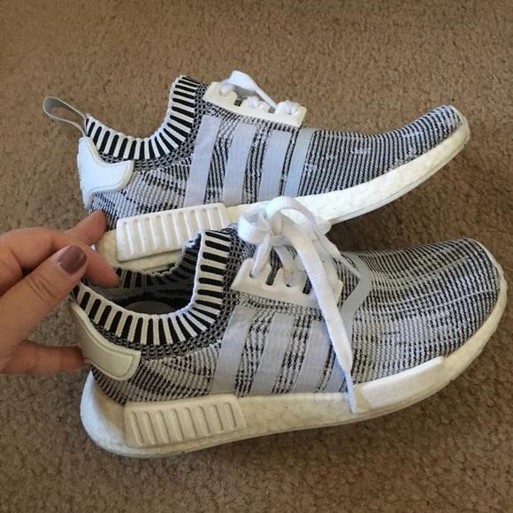 2c2b558fc adidas Shoes - Adidas NMD 7.5 women s grey Oreo glitch primeknit